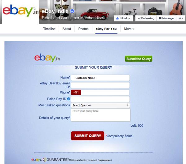 eBay-India-customer-service-on-facebook