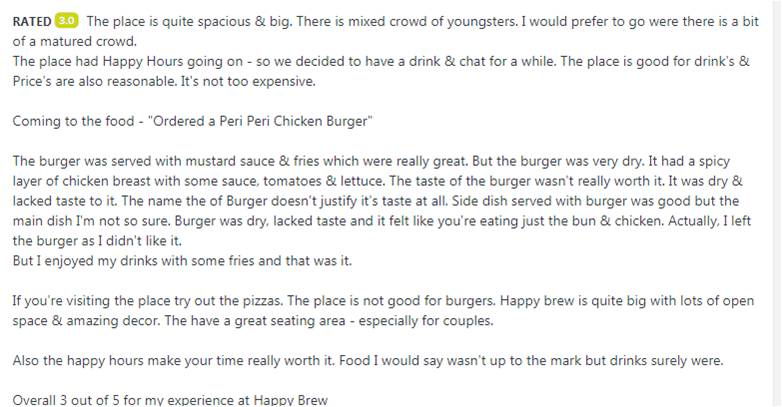 Zomato Review management
